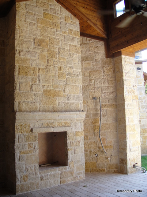 5233 Stonegate patio fireplace