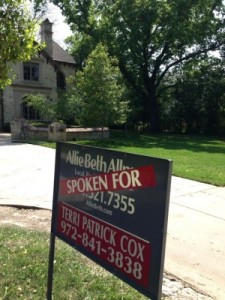 "In the Park Cities, homes are often ""spoken for"" as soon as there's a sign out front."