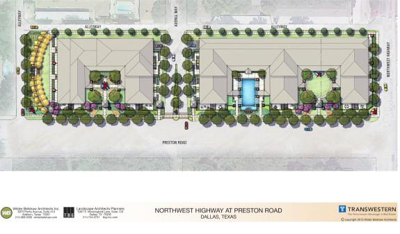 Transwestern Landscape-site-plan-Preston-and-Northwest-Highway-575x337