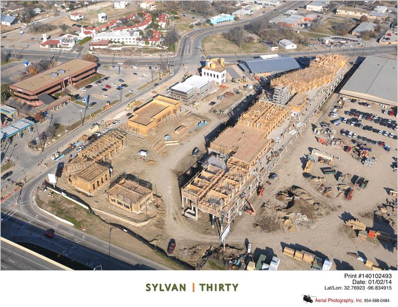 The apartments at Sylvan|Thirty are some of the 1,300 projected units that will be built in West Dallas.