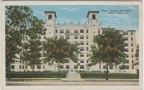 Maple Terrace old postcard