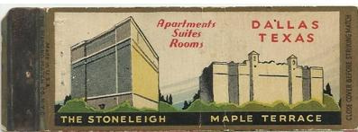 Maple Terrace On A Vintage Matchbook