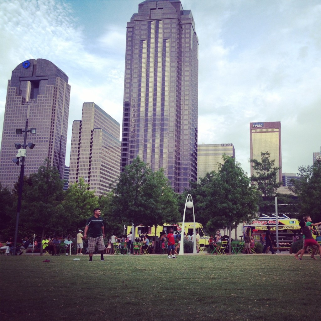 Klyde Warren Park during the Arts District Block Party June 20.