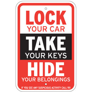 A friendly reminder to the folks of the Park Cities. Three easy steps to curb auto burglaries.