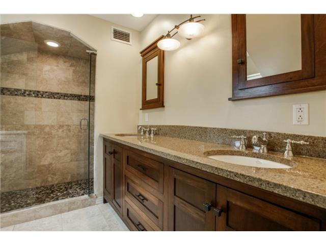Spa styled Master Bathroom. This was a custom designed bath with