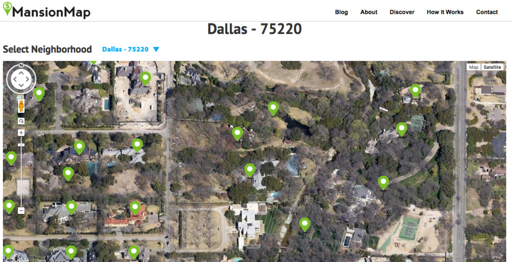 You can get a bird's-eye view of the posh homes in Dallas' 75220 Zip Code, AKA Preston Hollow, and find out who lives there, too.