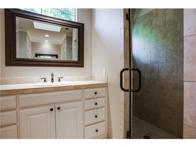 Second Master Vanity with Large Walk-In Shower with Window.