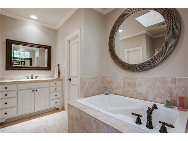 Master Bath with Dual Vanities, Dual Closets and Separate Jetted