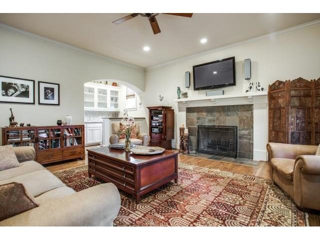 Family Room with View of the Walk-In Wet Bar
