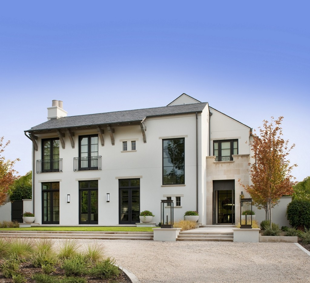 A stand out exterior built by Tatum Brown (Built in coffee maker (Photo Credit: Tatum Brown Custom Homes)