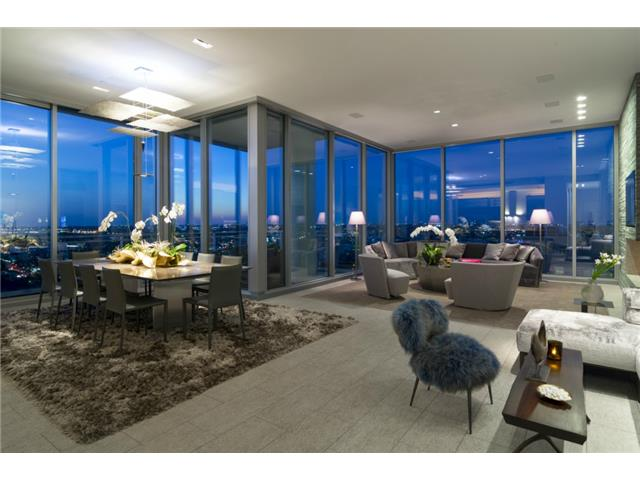 Dining and living areas with incredible views of the city.