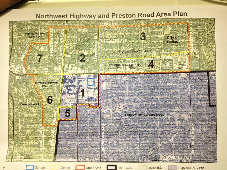 NWhighway&Preston Are plan map