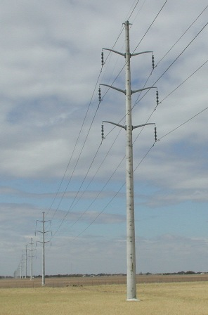 This is what the proposed above-ground power line could look like.