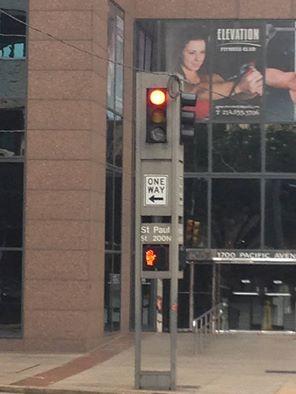 Bad traffic signal downtown