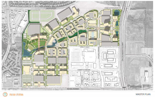 The Frisco Station Master Plan. Photo courtesy of the city of Frisco.
