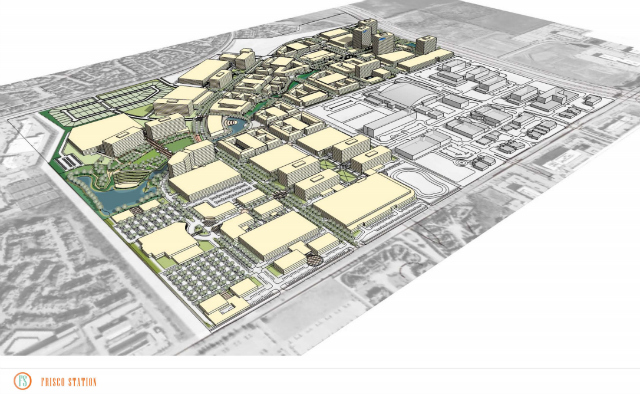 An artist rendering of the arial view of Frisco Station. Photo courtesy of the city of Frisco.