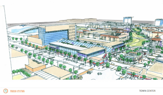 An artist rendering of the Town Center of Frisco Station. Photo courtesy of city of Frisco.