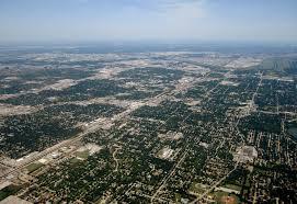 Suburban sprawl Dallas