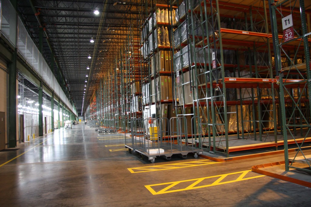 The attached warehouse and distribution center will contain more than 500,000 pieces of inventory when fully stocked. (Photo: Joanna England)