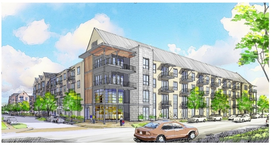The Trinity Village development was 2014's largest single redevelopment property in West Dallas. Rendering courtesy of StreetLights Residential.