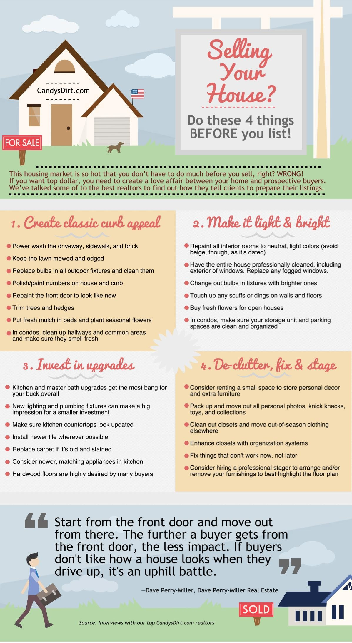 Home Selling Tips Infographic