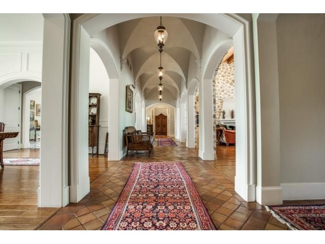 Groin vault hallways and arched openings rarelyfound in country