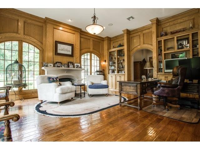Study fit for a king or queen. Fireplace too!