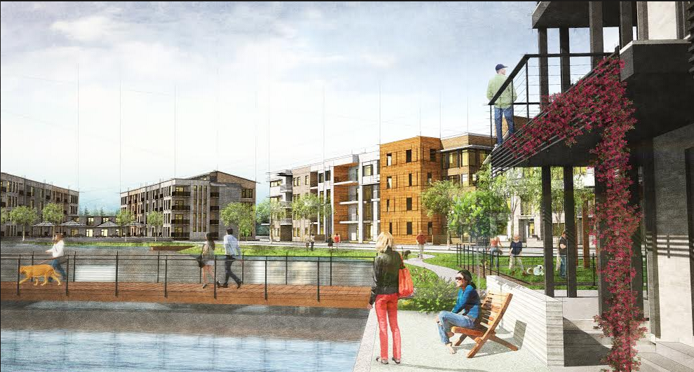 Artist rendering of the luxury apartments being built at Castle Hills in Lewisville. Photo courtesy Bright Realty.