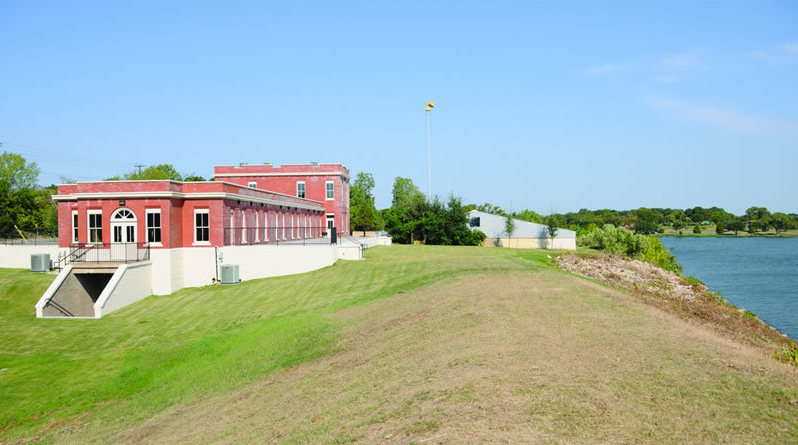 The Filter Building on White Rock Lake, aka White Rock Pump Station, is a Renaissance Revival  building from 1911 with historic designation. Photo: The Filter Building on White Rock Lake.