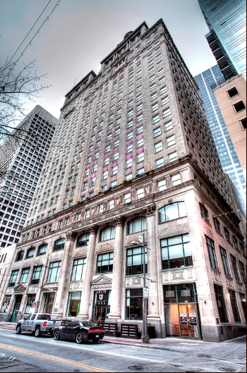 The Davis Building, aka Republic National Bank Building, in downtown has Dallas Historic Landmark Designation. 1926 this structure was the tallest in Dallas. In 1945, this structure was the largest office site in Dallas. Photo: Davis Building.