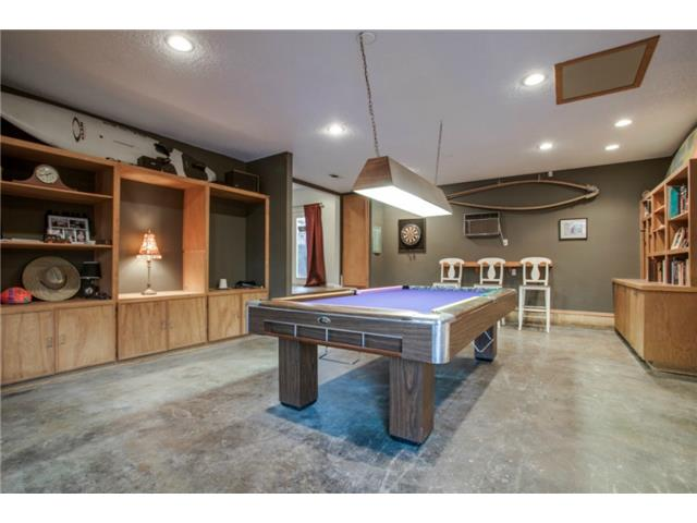 The versatile game room is the perfect area for an array of recr