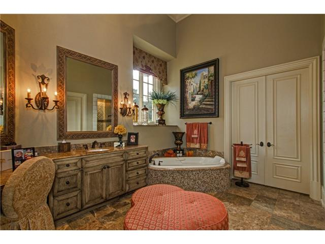 """Her"" Master Bath includes a Spa/Tub, HUGE Walk-In Shower with B"