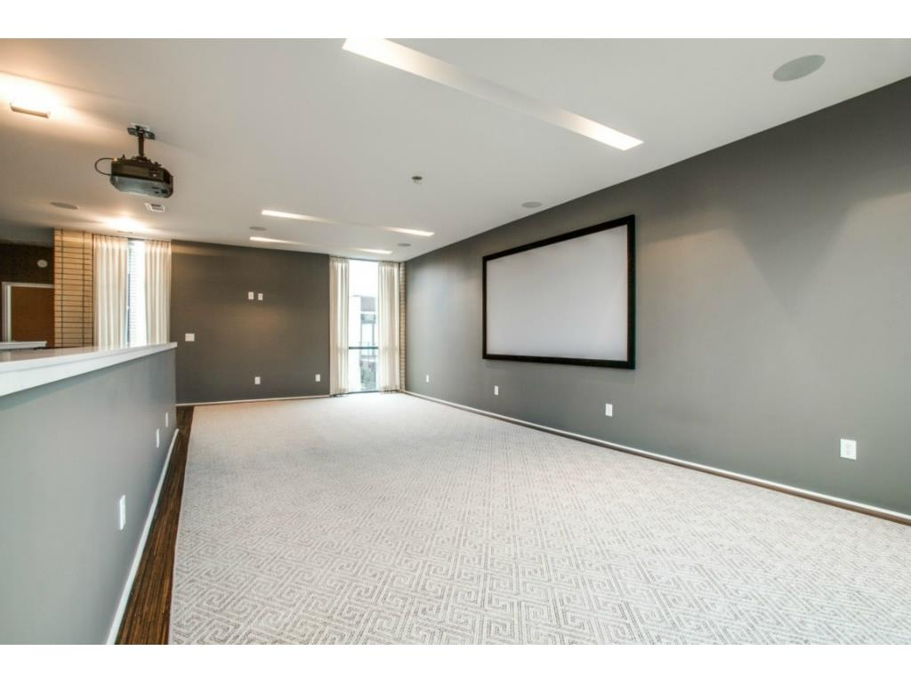 Third floor entertainment room