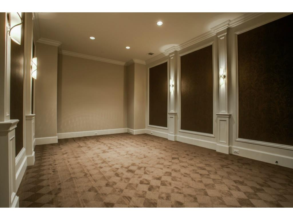 Media room located on first floor.  Has huge walk in closet.