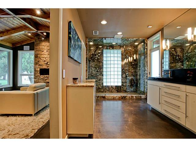 Master bath offers spacious shower and incredible storage with d