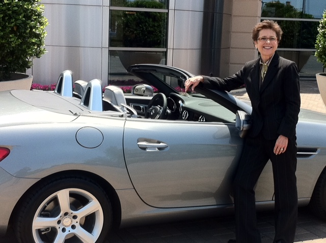 Realtor Harriet Shaw cleans her car herself at least once a day and believes keeping her vehicle spotless is a reason for her success. Photo: Harriet Shaw