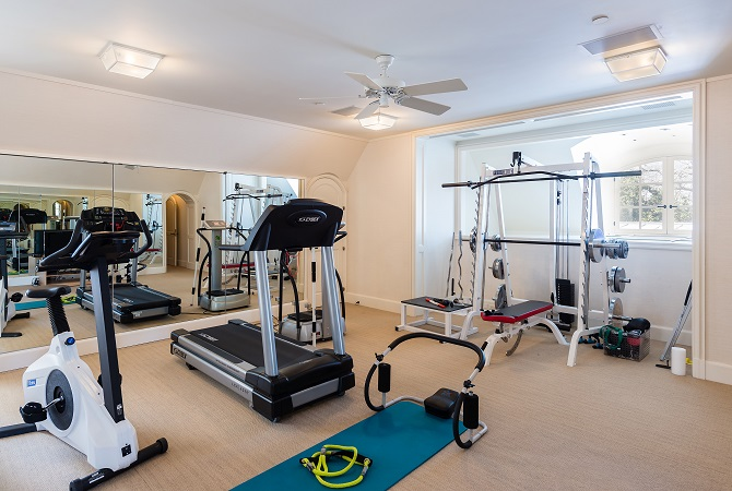 Hicks Main House- Fitness Room