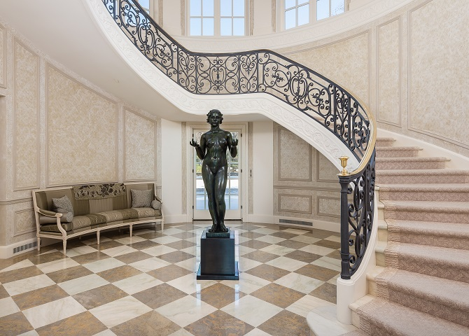 Hicks Main House- Foyer and Grand Stairway