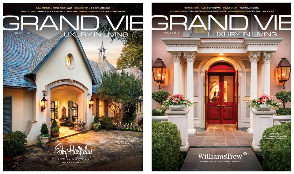 The newest edition of Grand Vie will feature a column by Candy and tons of great Fort Worth homes from Williams Trew!