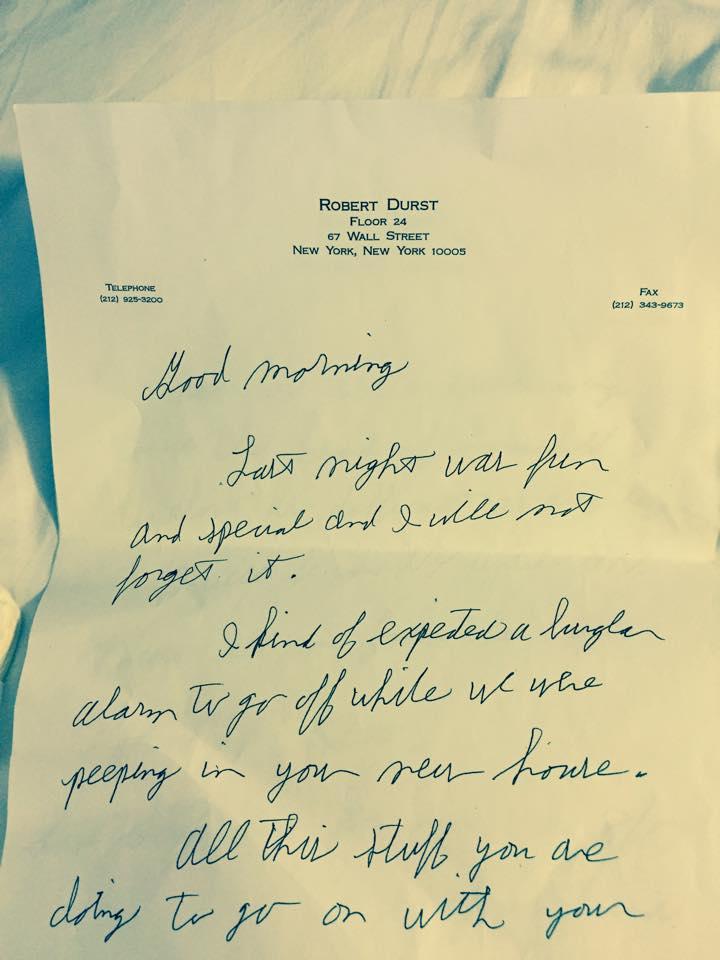 Robert Durst letter