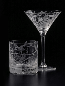 seascape crystal glassware