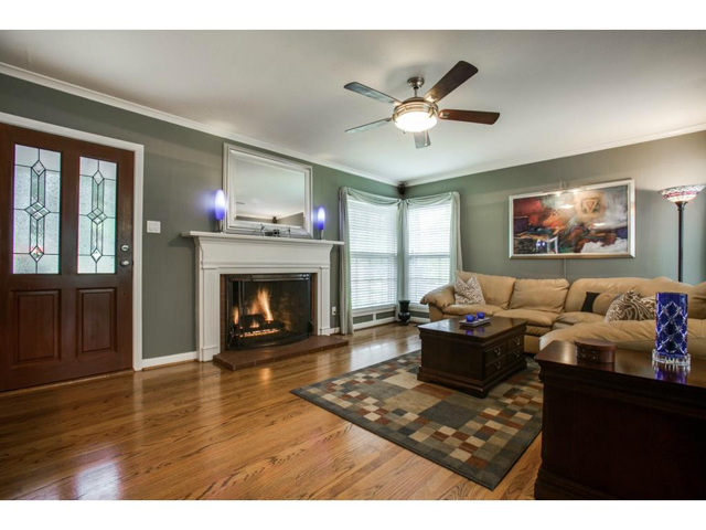 The living room is spacious and perfect for entertaining friends