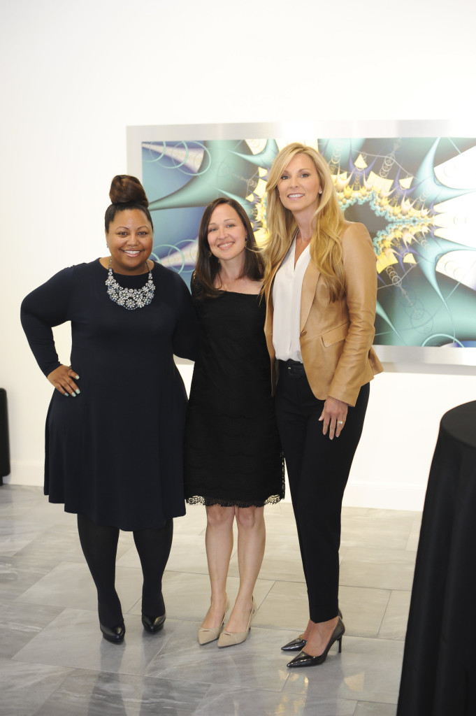 Shakeya McDow, event co-chair, Jessica Trudeau, executive director, Family Compass, and Kristy Faus, event co-chair