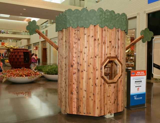 One of the playhouses on display at NorthPark Mall at the Parade of Playhouses, benefitting Dallas CASA. Photo: XXX