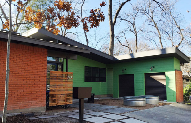 This mid-century modern renovation by Studio Perk is LEED Gold certified.