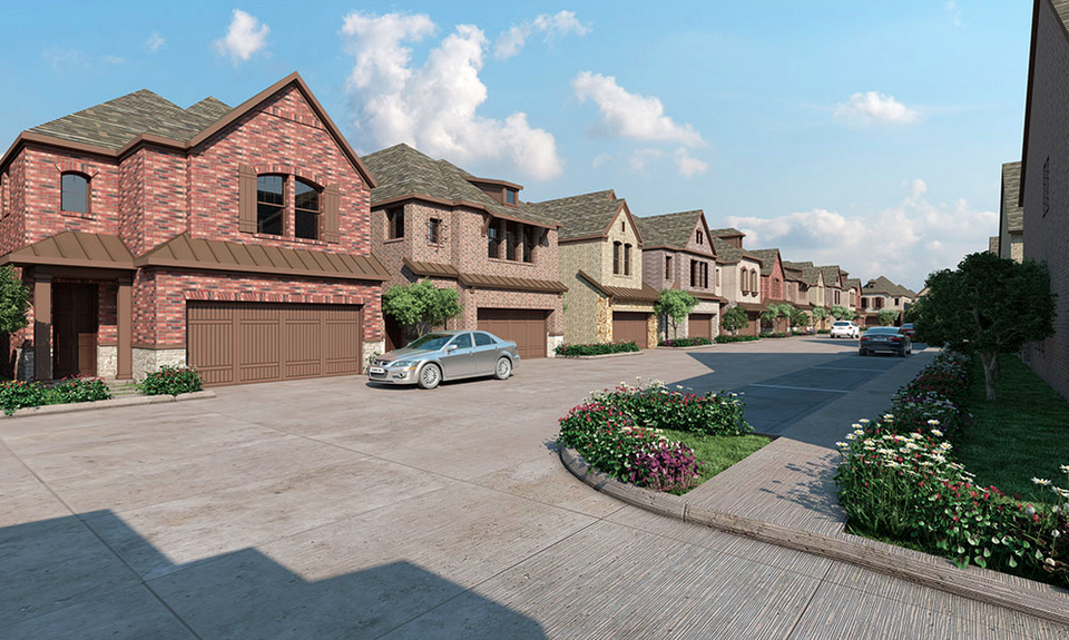Artist rendering of the Villas of Lake Highlands. Photo: David Weekley Homes