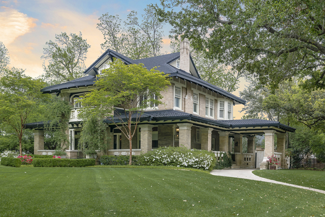 This stately Craftsman-style home at 5400 Swiss makes quite an impression at the curb.