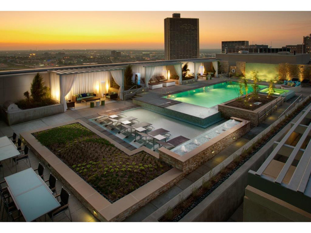 Omni FW Penthouse Roof pool and garden