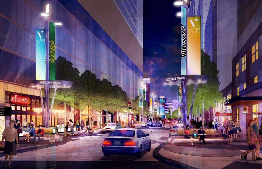 Victory Park is poised for a renaissance, and a new residential tower could help fuel new growth. (Photo: Victory Park)