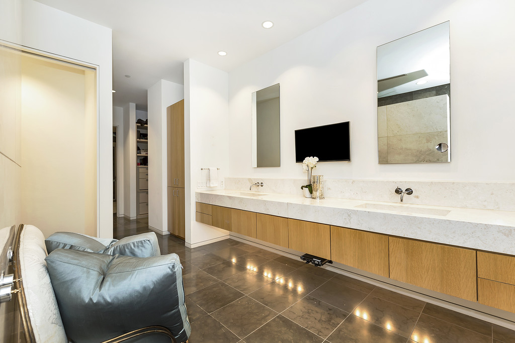 The New Decadence - TV in the Master Bath